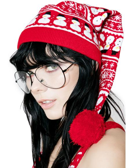 Snowman Knit Cap