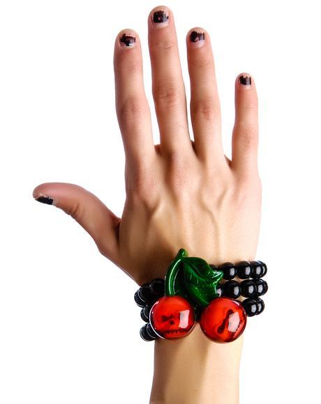 Cherry Skull Bracelet