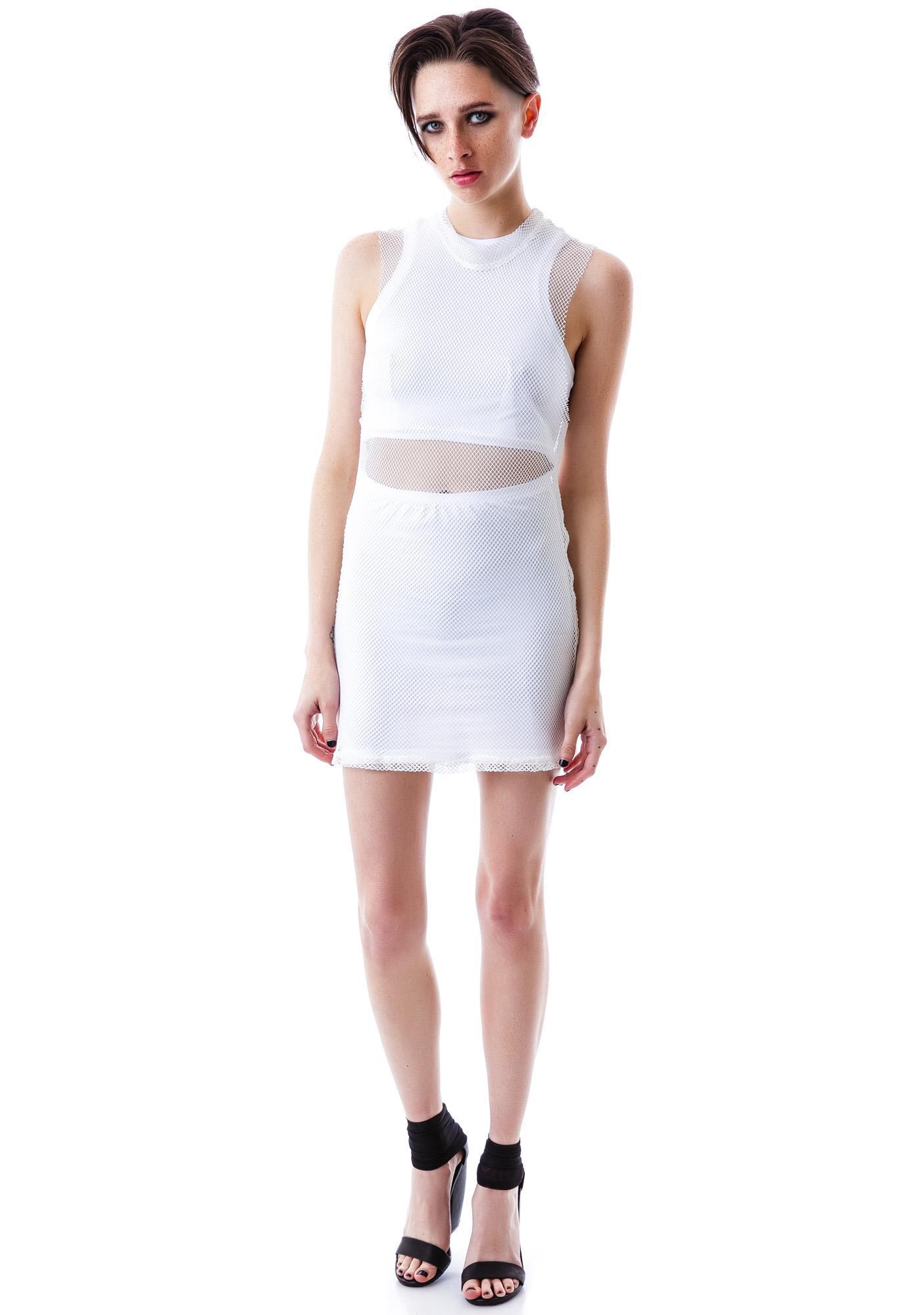 UNIF Mesh Overlay Dress