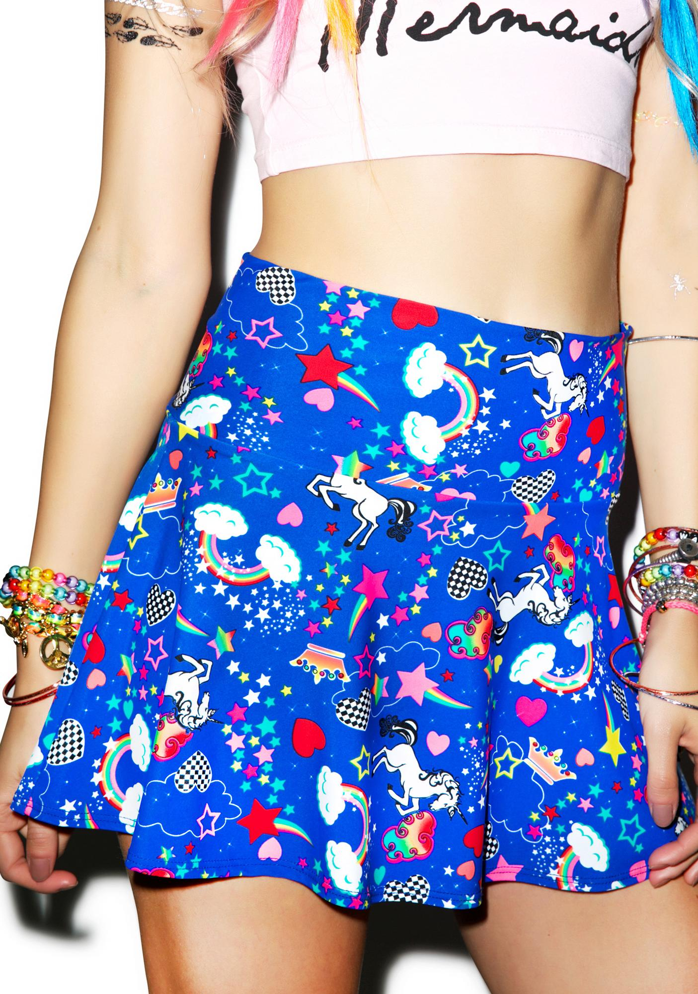J Valentine Rainbow Unicorn Skirt