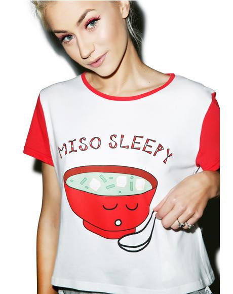 Miso Sleepy Crop Tee