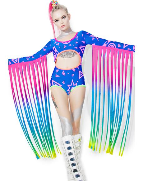 Fringed Rave Bodysuit