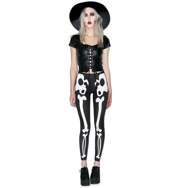 Disturbia Bones Leggings