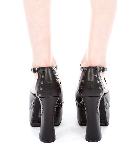 T.U.K. Studded Smasher Platform Heel