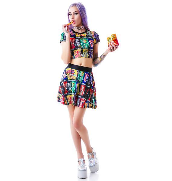 24HRS Vending Machine Skater Skirt