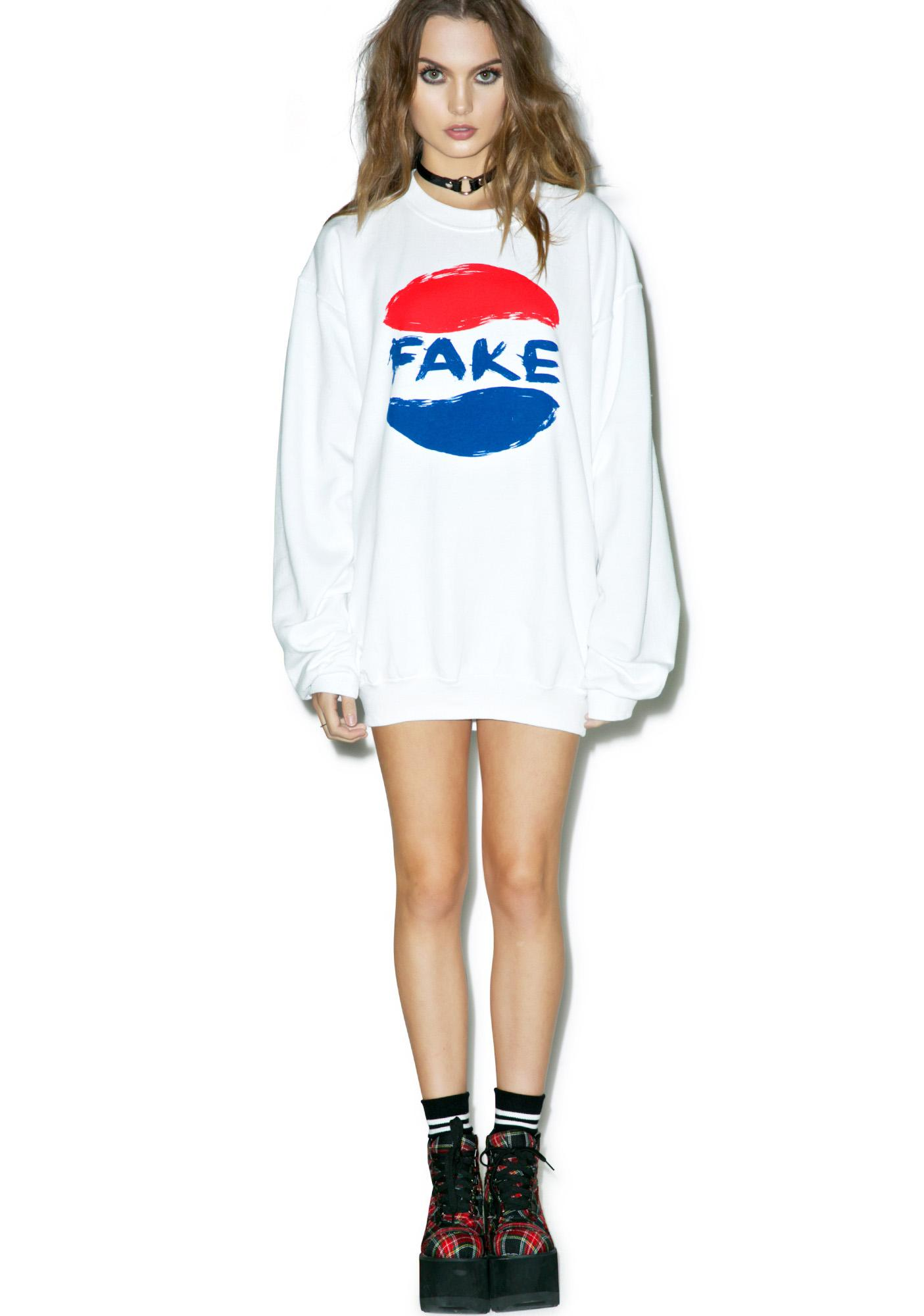 Petals and Peacocks Fake Soda Sweatshirt