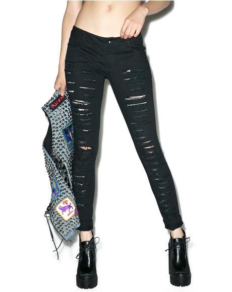 Lunatic Destroyed Skinny Jeans