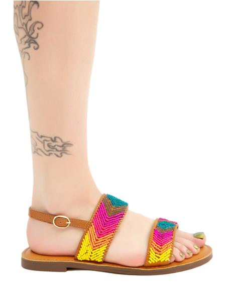 Weaving Rainbows Sandals
