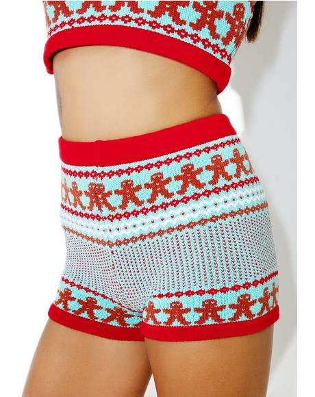 Gingerbread Knit Shorts