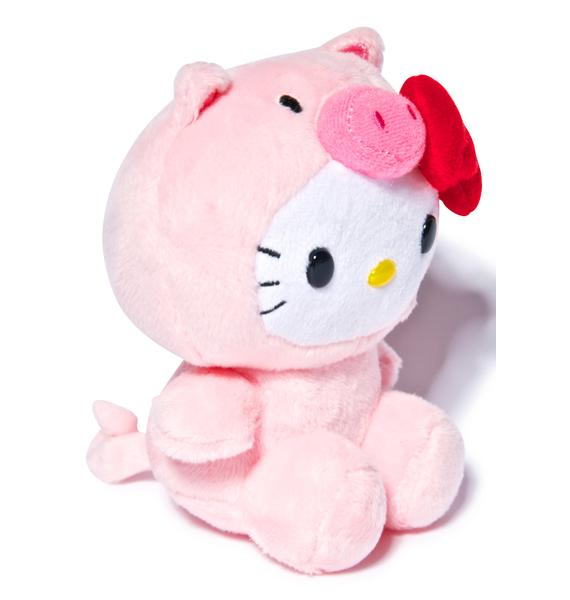 Sanrio Farm Friends Hello Kitty Pig Plush