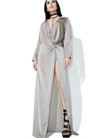 Diptych Draped Maxi Dress