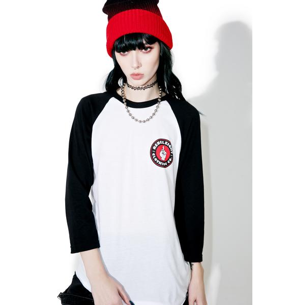 Rebel8 Beat It Raglan Tee