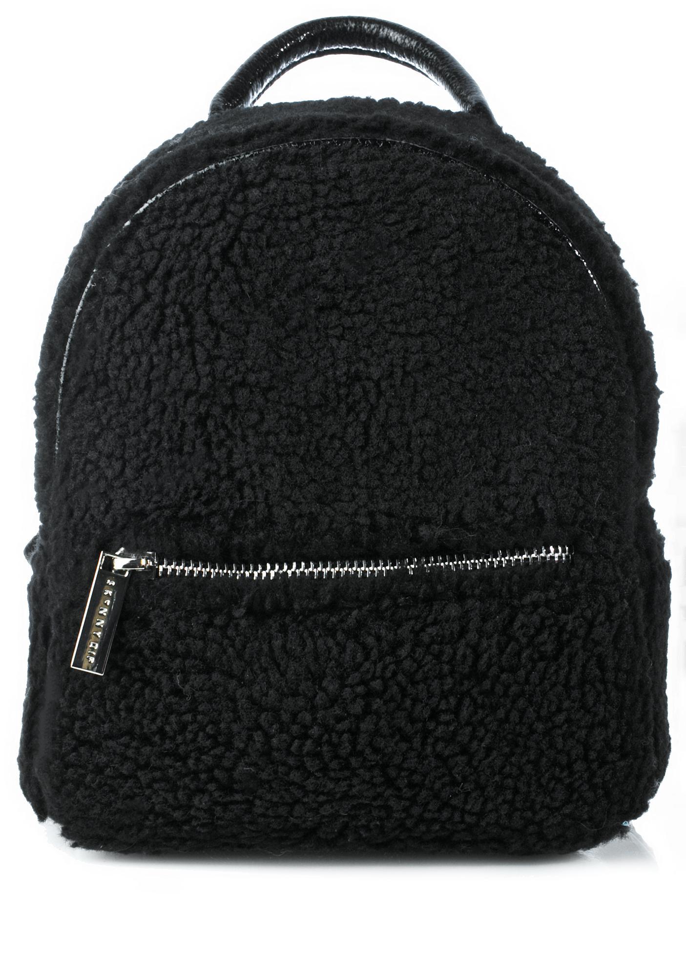 Skinnydip Charlie Mini Shearling Backpack