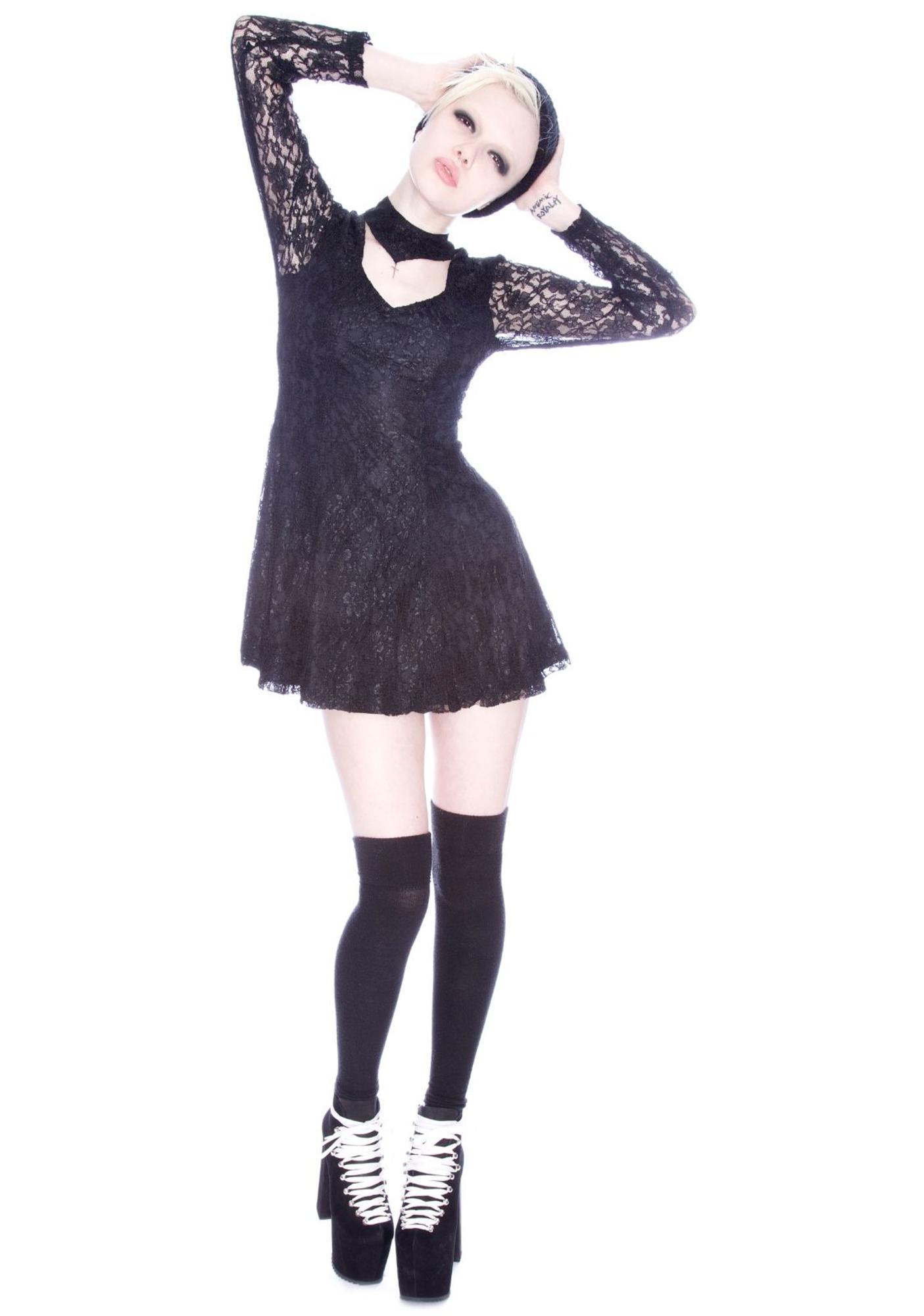 UNIF Lace Choker Dress