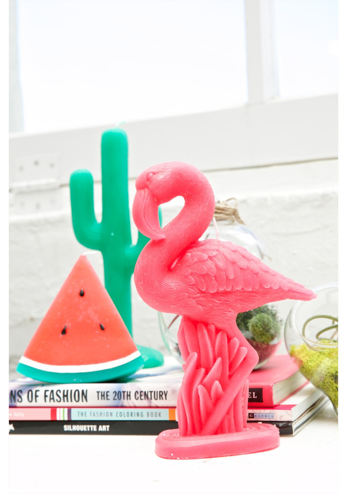 Flamingo Fancy Candle