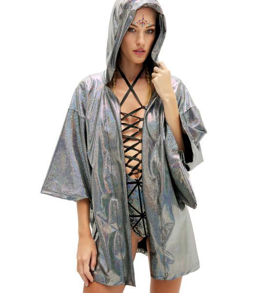 Little Black Diamond Metallic Dreamweaver Kimono