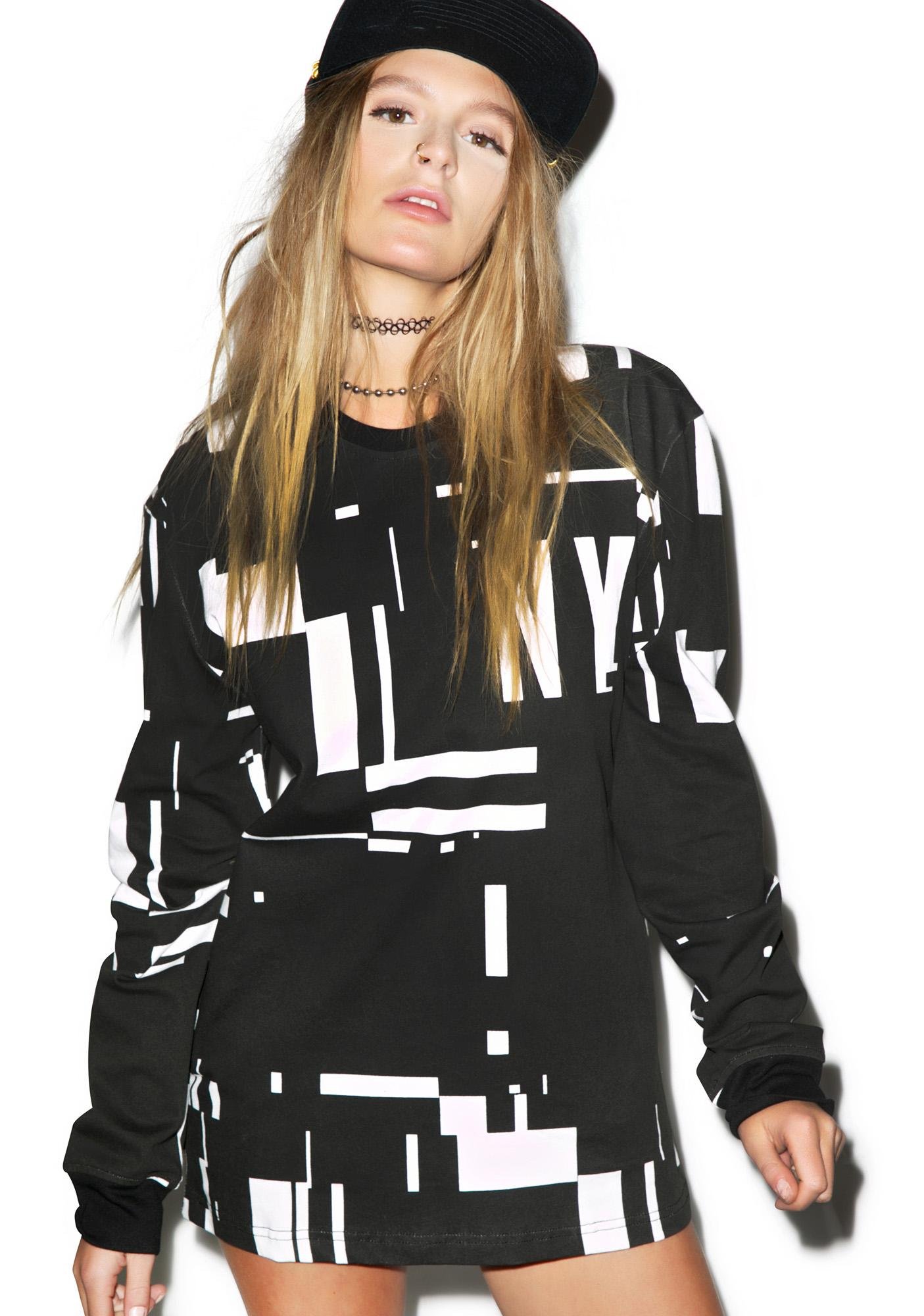 Reason Glitch Long Sleeve Tee