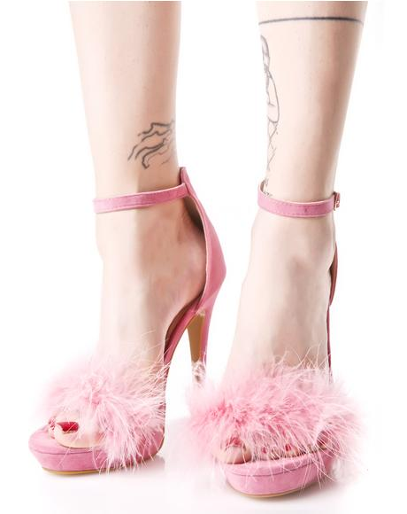 Flirty Tickler Fluffy Heels
