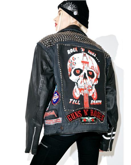 Vintage Deadstock Denim 'N Leather Jacket