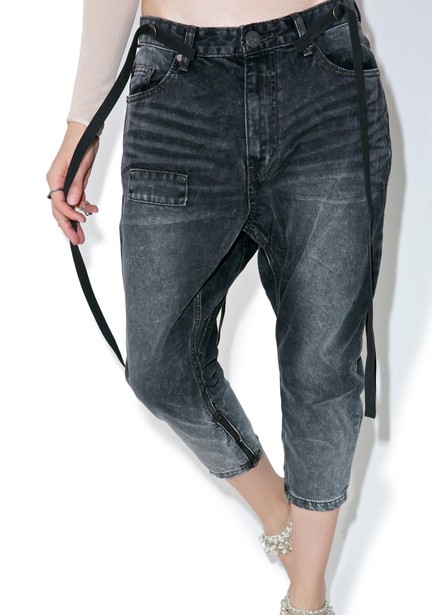 One Teaspoon Black Van Kingpin Jeans