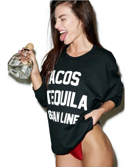Tacos Tequila & Tan Lines Sweater