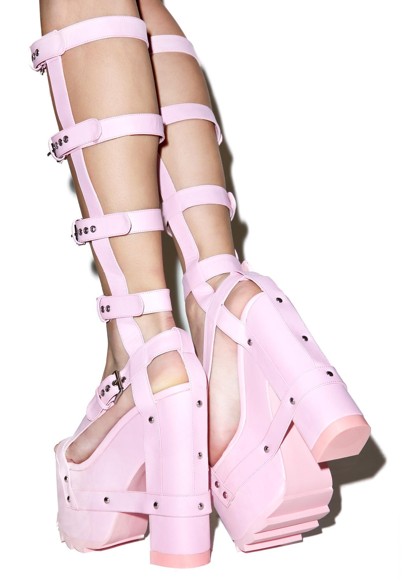 Baby Pink Platform Heels
