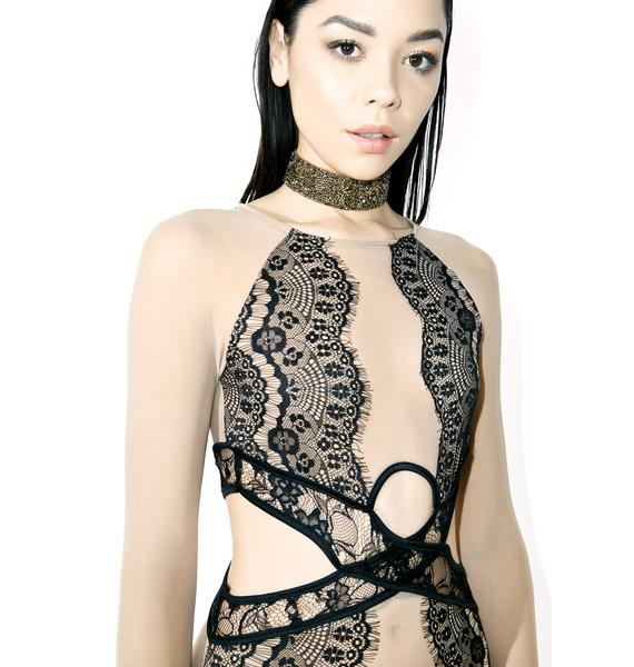 Classically Trained Cutout Bodysuit