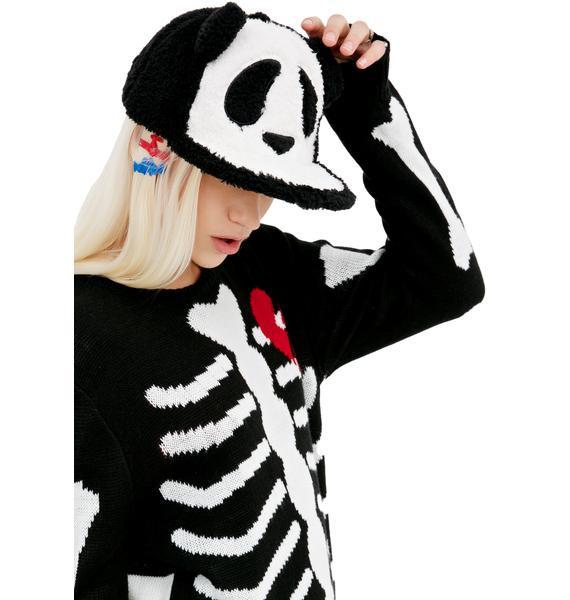 Fuzzy Panda Hat