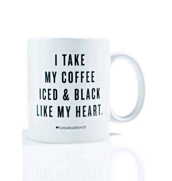 SugarLuxeShop Iced 'N Black Coffee Mug