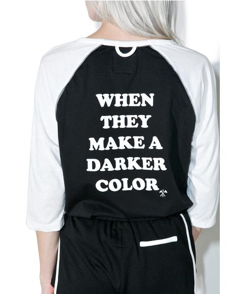 X Dolls Kill Darker Color Baseball Tee
