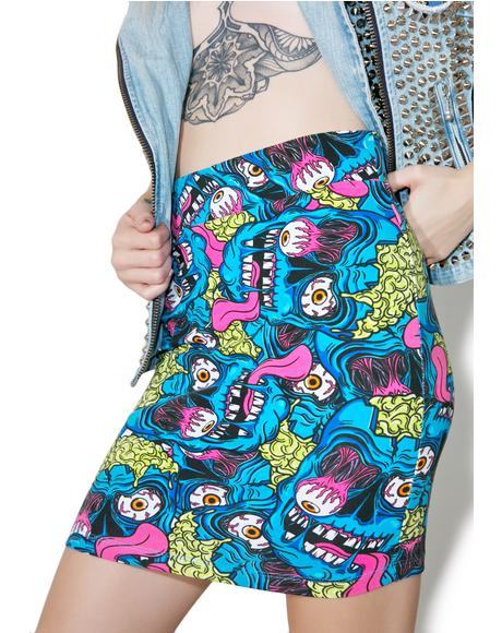 Eyeballin' Mini Skirt