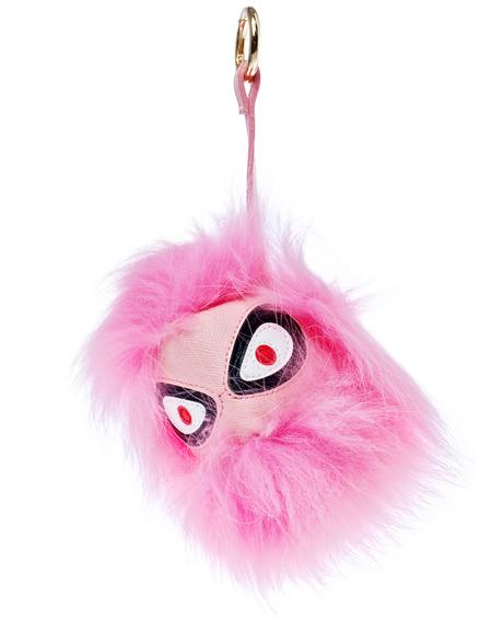 Angry Eyez Fluffy Keychain