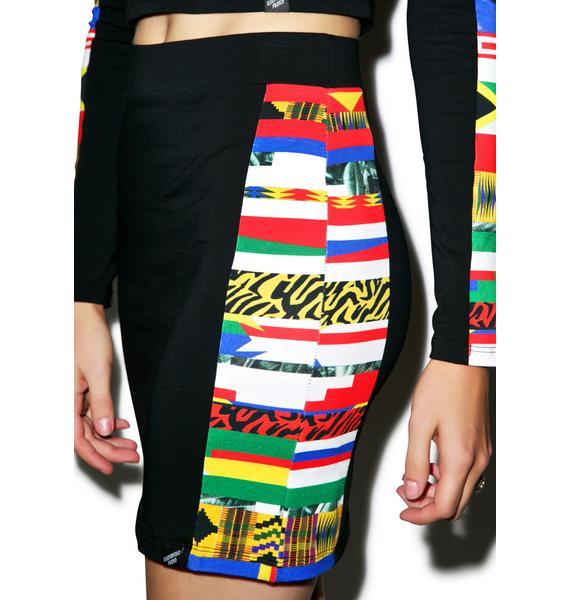 Illustrated People World Panel Mini Skirt