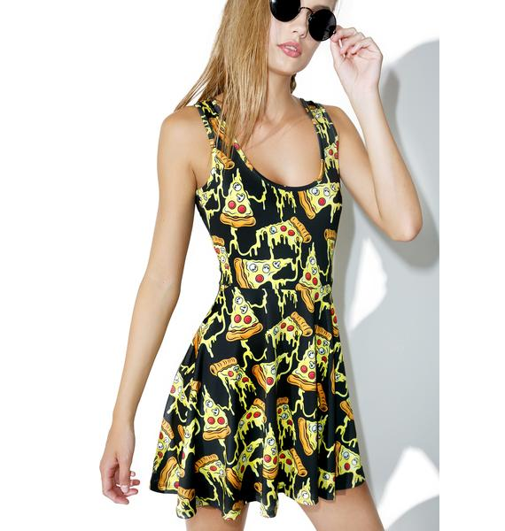 Sourpuss Clothing Pizza Party Skater Dress
