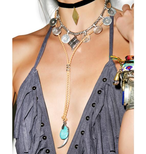 Vanessa Mooney The Canyon Leather Necklace