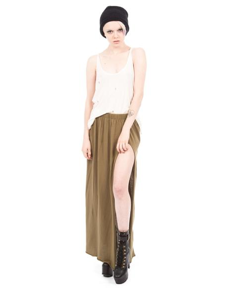 Defender Jersey Maxi Skirt
