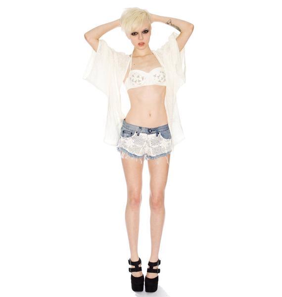 One Teaspoon Crochet Bonitas Shorts
