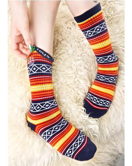 Tex Mix Baja Crew Socks