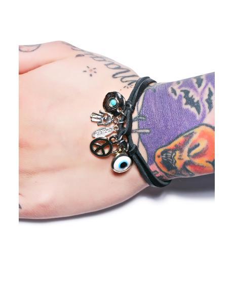 Charmed Deerskin Leather Bracelet