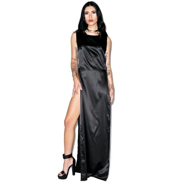 Chelsea Slit Slip Dress