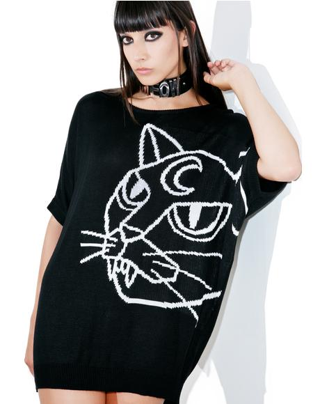 Stray Batwing Knit Top