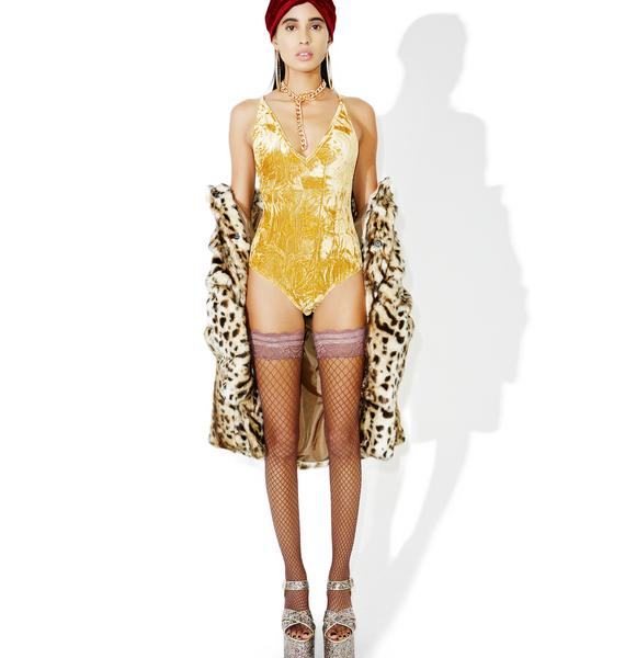 Klimt Velvet Bodysuit