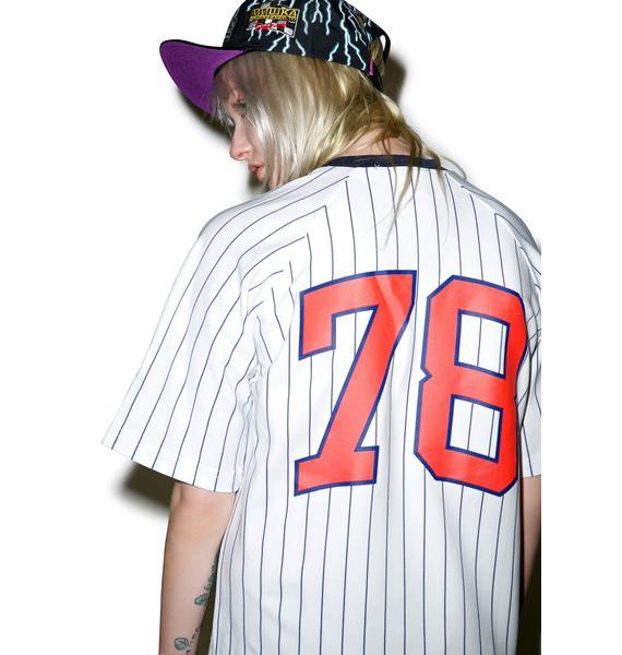 Mishka Cyrillic Varsity Baseball Jersey
