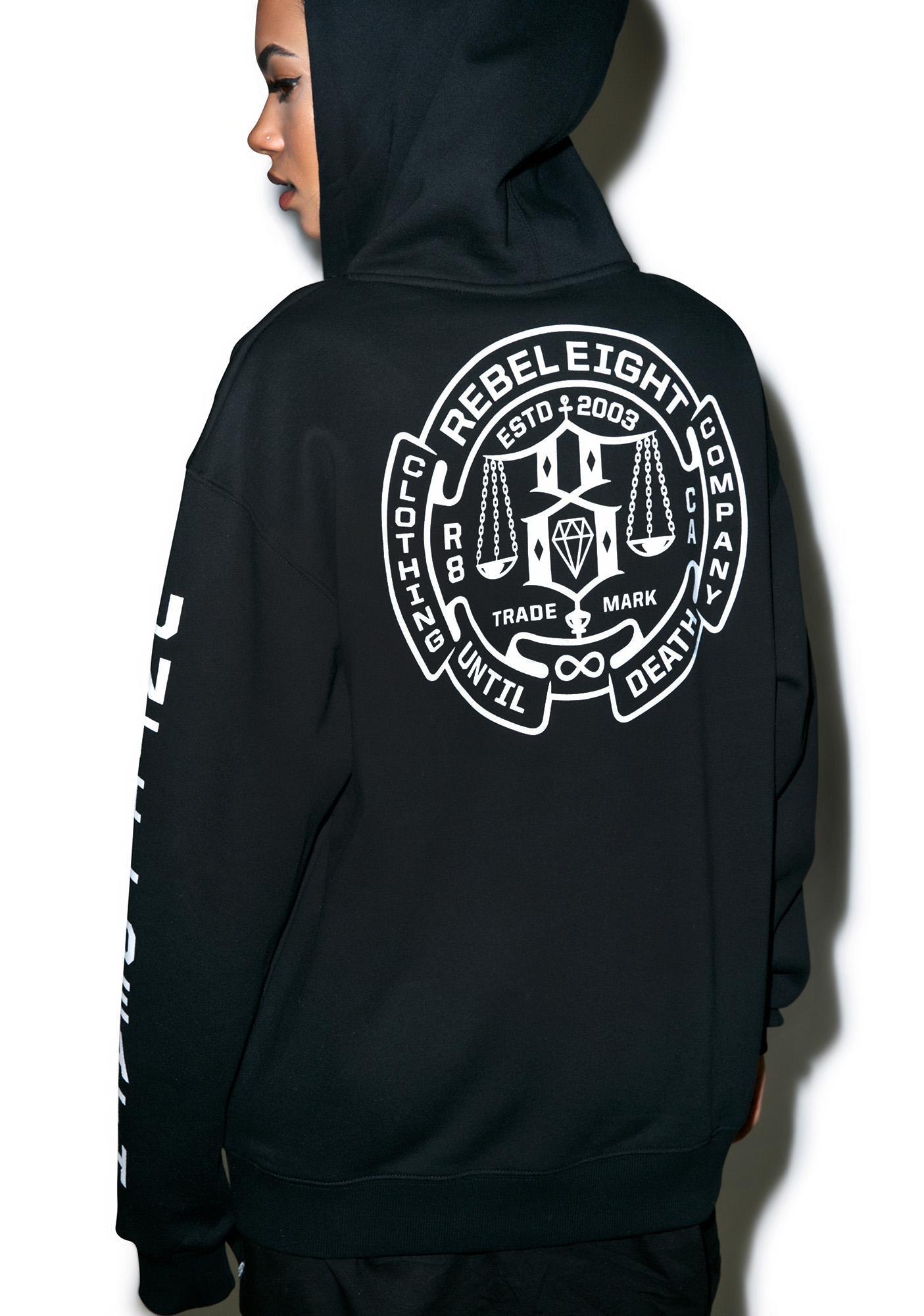 Rebel8 Until Death Zip-Up Hoodie