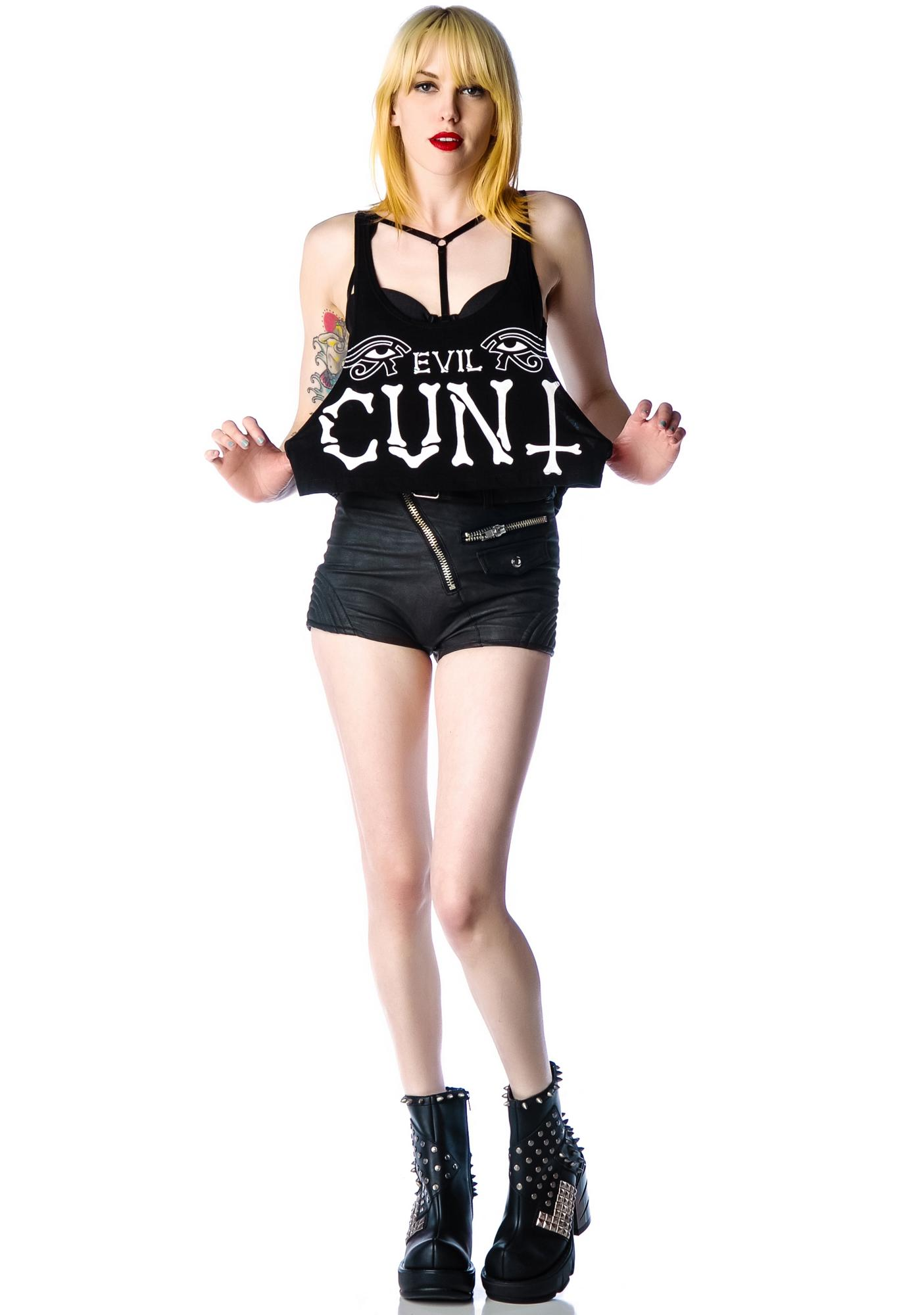 Too Fast Evil Cunt Crop Tank