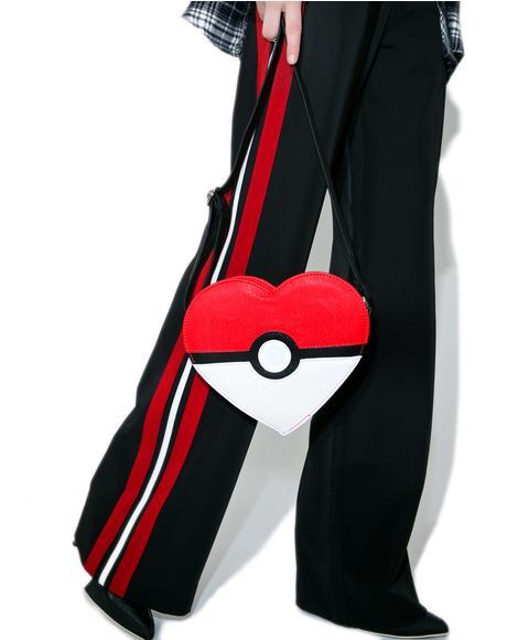 X Pokémon Heart-Shaped Pokéball Crossbody Bag