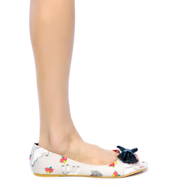 Iron Fist Black Sheep Peep Toe Flats