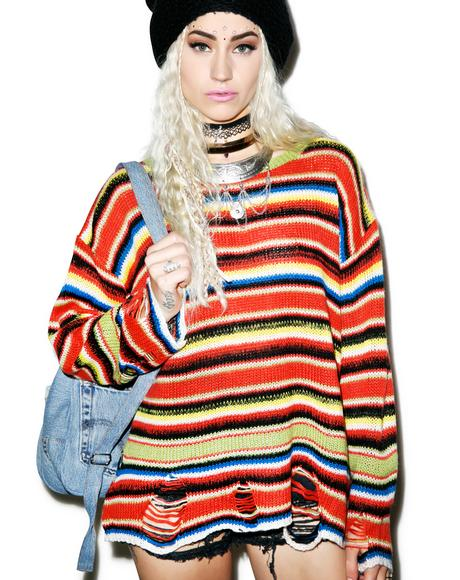 Mexican Blanket Lenon Sweater