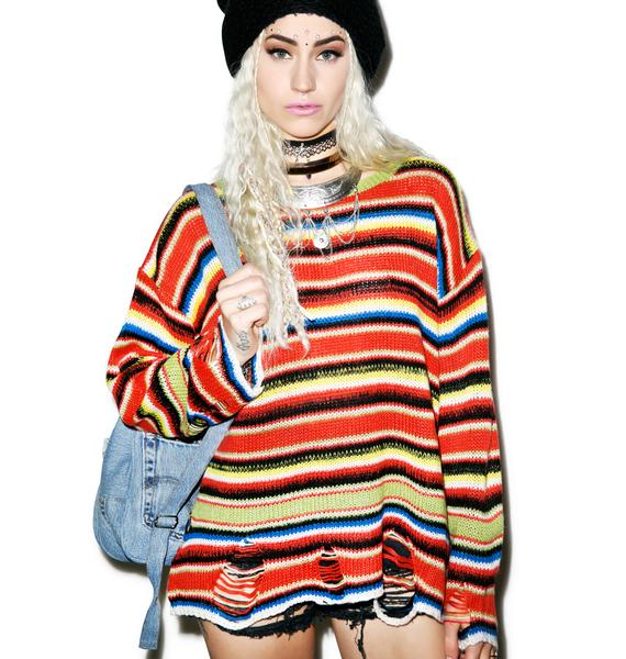 Wildfox Couture Mexican Blanket Lenon Sweater