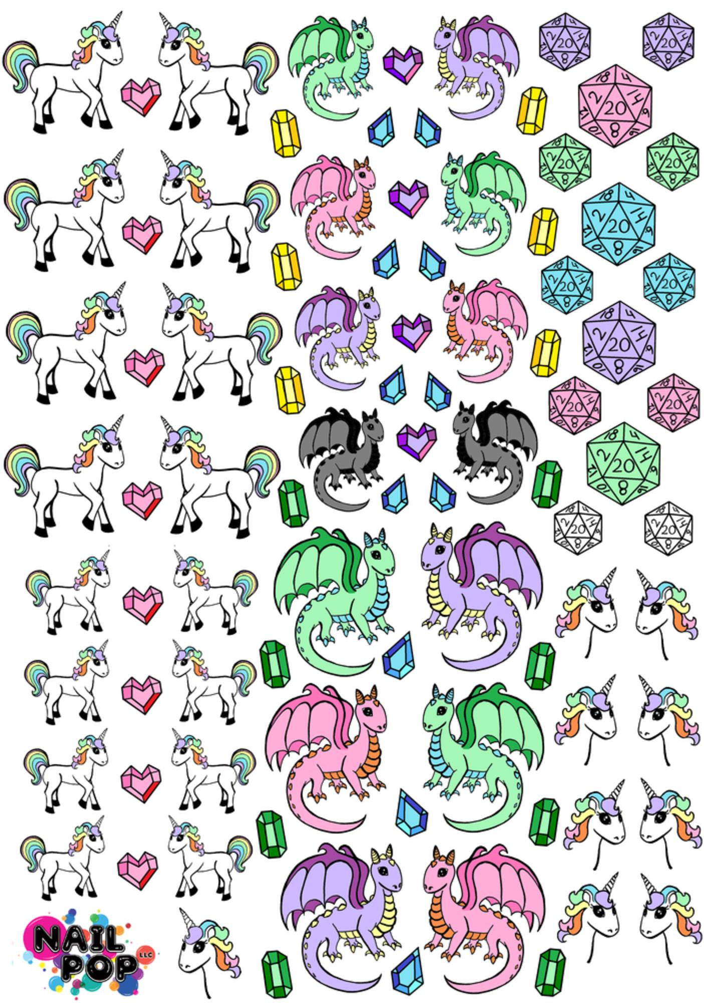 Nail Pop RPG Fantasee Water Slide Decals